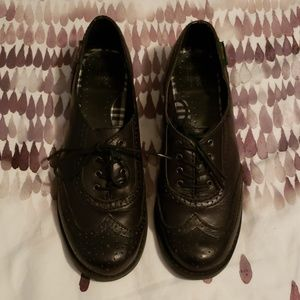 Black Oxfords Leather 8.5